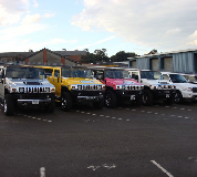Jeep Limos and 4x4 Limos in Cardiff Bay